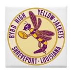 Byrd High Yellow Jackets Tile Coaster