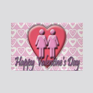 Two Ladies Valentine's Rectangle Magnet