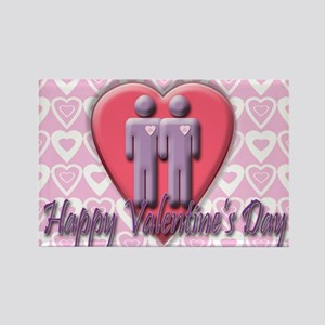 2 Gents Valentine's Rectangle Magnet