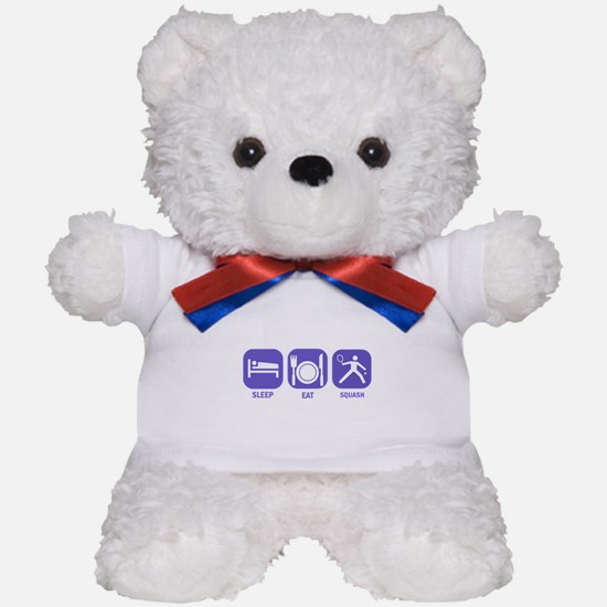 Sleep Eat Squash Teddy Bear