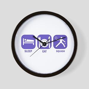 Sleep Eat Squash Wall Clock