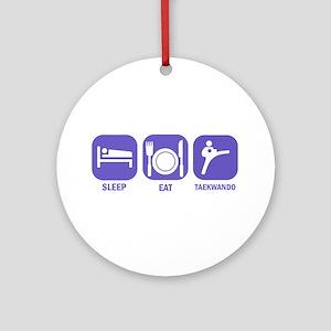 Sleep Eat Taekwando Ornament (Round)