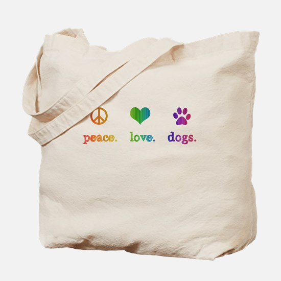 Unique Peace love dogs Tote Bag
