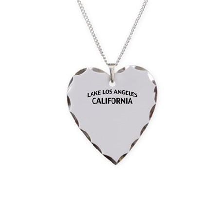 Lake Los Angeles California Necklace Heart Charm