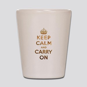 Keep Calm And Carry On Shot Glass