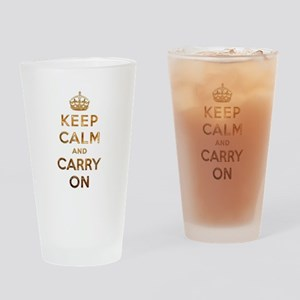 Keep Calm And Carry On Drinking Glass