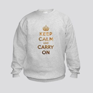 Keep Calm And Carry On Kids Sweatshirt