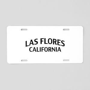 Las Flores California Aluminum License Plate