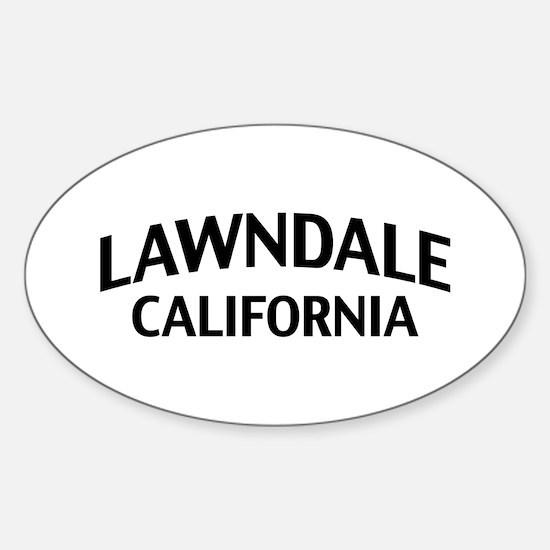 Lawndale California Sticker (Oval)