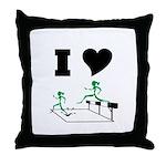 SteepleChics Throw Pillow