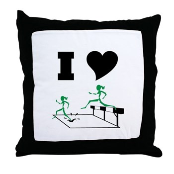 SteepleChics Throw Pillow