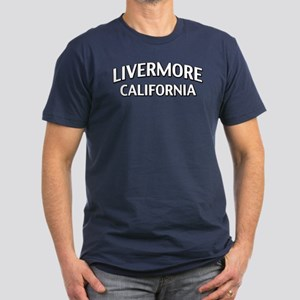 Livermore California Men's Fitted T-Shirt (dark)