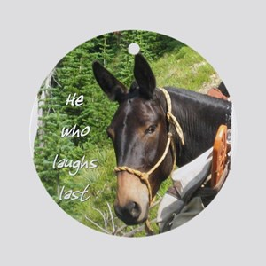 Smiling Mule Ornament (Round)