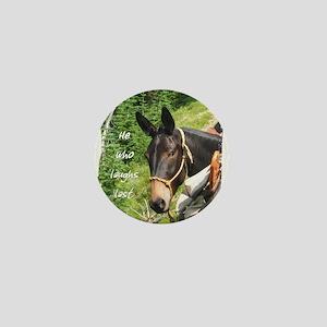 Smiling Mule Mini Button