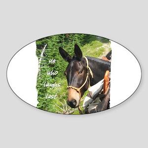 Smiling Mule Sticker (Oval)
