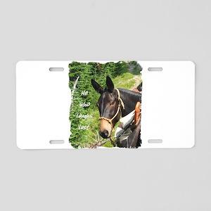 Smiling Mule Aluminum License Plate