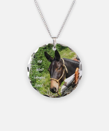 Smiling Mule Necklace