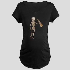 Ukulele Skeleton Maternity Dark T-Shirt