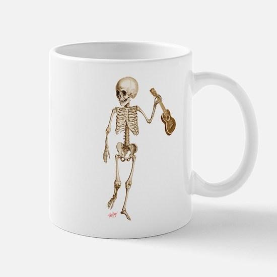 Ukulele Skeleton Mug