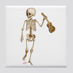 Ukulele Skeleton Tile Coaster