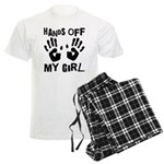 Hands Off My Girl Funny Men's Light Pajamas