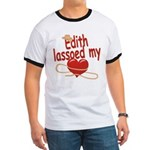Edith Lassoed My Heart Ringer T
