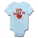 Edith Lassoed My Heart Infant Bodysuit