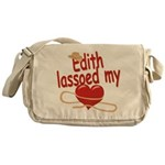 Edith Lassoed My Heart Messenger Bag