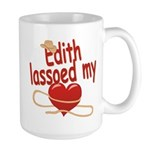 Edith Lassoed My Heart Large Mug