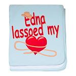 Edna Lassoed My Heart baby blanket