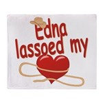 Edna Lassoed My Heart Throw Blanket
