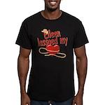 Eileen Lassoed My Heart Men's Fitted T-Shirt (dark