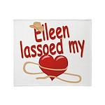 Eileen Lassoed My Heart Throw Blanket