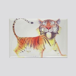 Cute Tiger Rectangle Magnet