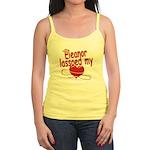 Eleanor Lassoed My Heart Jr. Spaghetti Tank