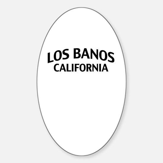 Los Banos California Sticker (Oval)