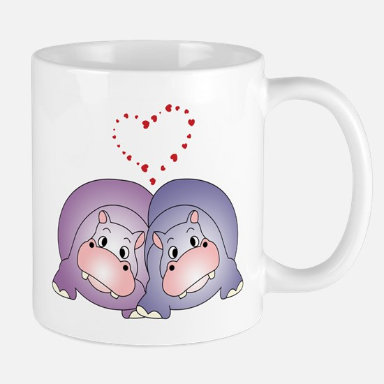 Hippo Love Large Mugs