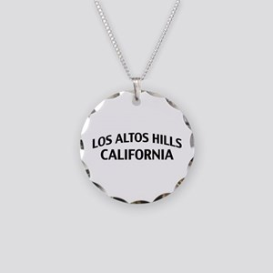 Los Altos Hills California Necklace Circle Charm