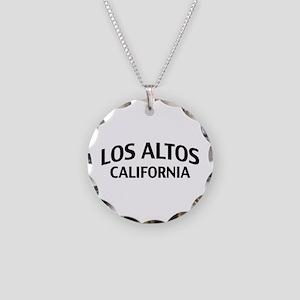 Los Altos California Necklace Circle Charm