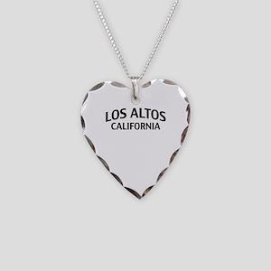 Los Altos California Necklace Heart Charm