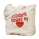 Elizabeth Lassoed My Heart Tote Bag