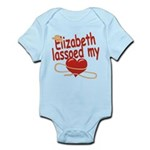 Elizabeth Lassoed My Heart Infant Bodysuit