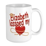 Elizabeth Lassoed My Heart Large Mug