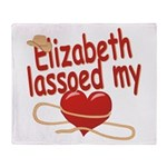 Elizabeth Lassoed My Heart Throw Blanket