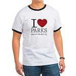 I Heart Parks Unisex Ringer T