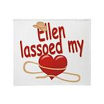 Ellen Lassoed My Heart Throw Blanket