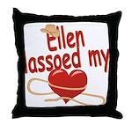 Ellen Lassoed My Heart Throw Pillow