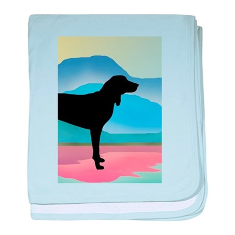 Coonhound Mountains baby blanket