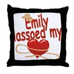 Emily Lassoed My Heart Throw Pillow