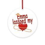 Emma Lassoed My Heart Ornament (Round)